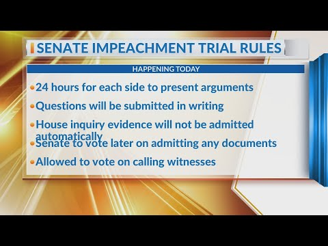 Watch: Trump impeachment trial to begin with rules fight, long days