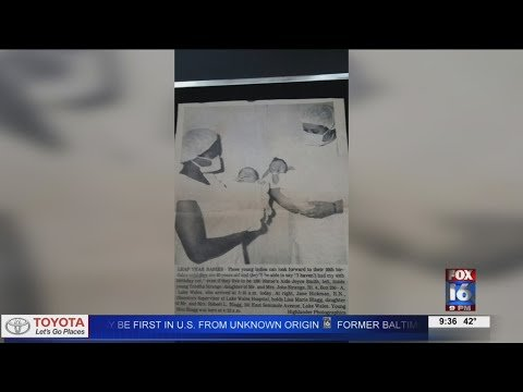 Watch: Digital Original: 48-years later Leap Day Baby still hopes to meet other infant girl in birth photo