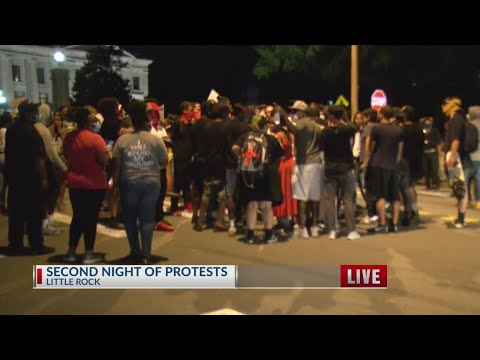 Watch: Protest continues for the second day in Little Rock
