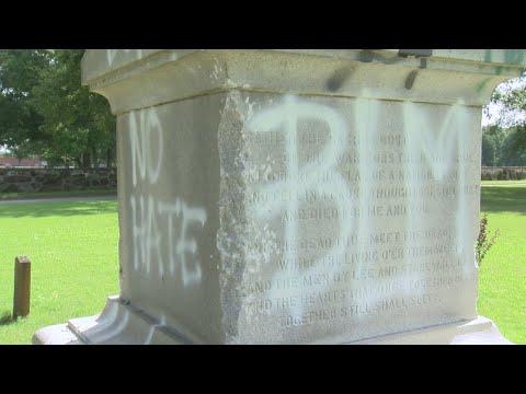 Watch: Confederate grave site vandalized