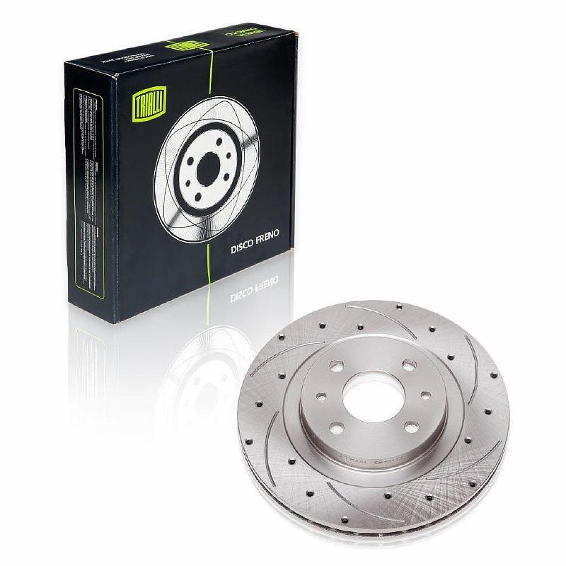 Тормозной диск на ВАЗ 2112 R-14 правый (выточка+перфорация)