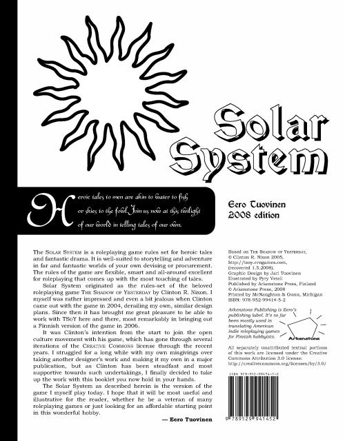 Arkenstone Publishing » Solar System