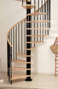 Phoenix Wood Tread Spiral Staircase Kit - Metal, Steel and ...