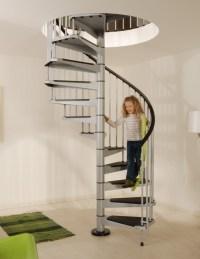 Civik Spiral Staircase Kit - Metal, Steel and Wood Spiral ...