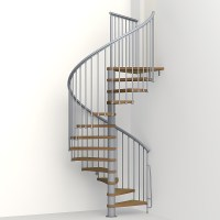 Nice 1 - Metal, Steel and Wood Spiral Staircase - Fontanot
