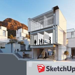 3D de edificio con sketchup