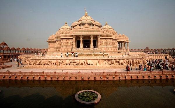 Palacio antiguo de la India.