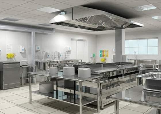 Elementos fabricados en acero inoxidable fotos arkiplus for Fotos de cocinas industriales