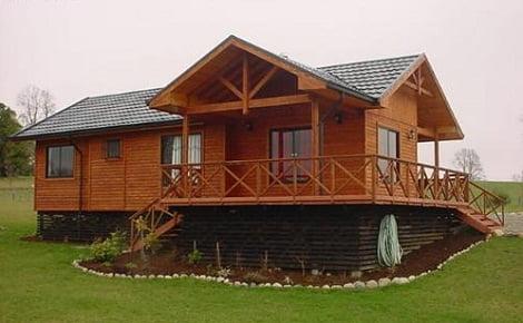 casa de madera de pino