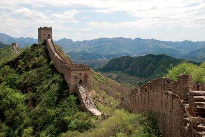 La Gran Muralla en Simatai, sección