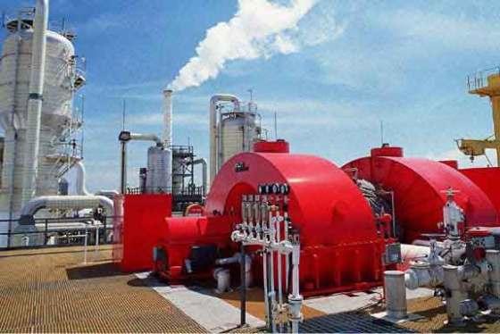 Esta planta de energía geotermica genera electricidad para el Valle Imperial de California.