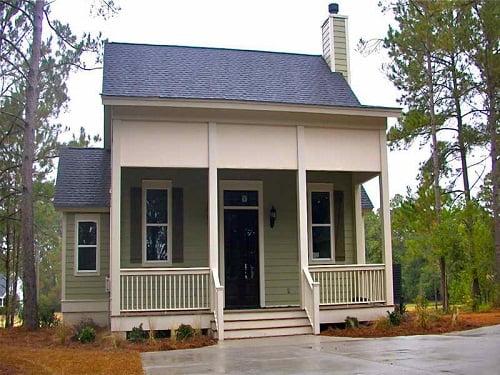 Fachadas de casas peque as arkiplus for Casas de madera pequenas