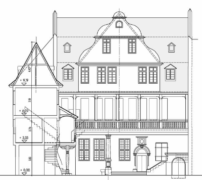 Fachadas de casas dibujo t cnico for Plano de planta dibujo tecnico