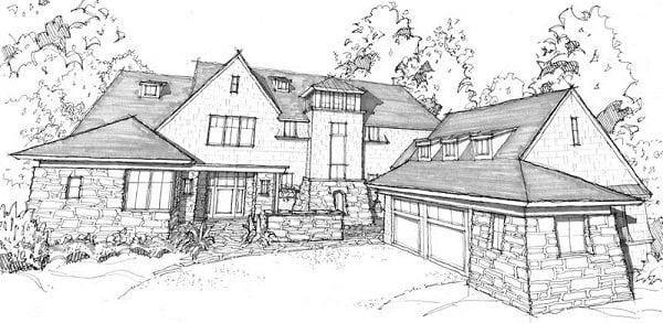 Fachadas de casas dibujo t cnico for Fachadas de casas modernas para colorear