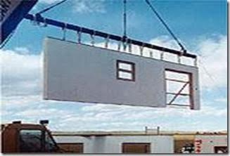Pared de concreto prefabricada.