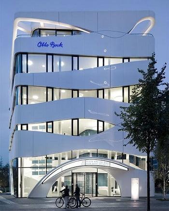 Fachadas modernas de edificios arkiplus for Fachadas de departamentos modernos