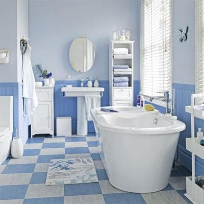 baño-azul