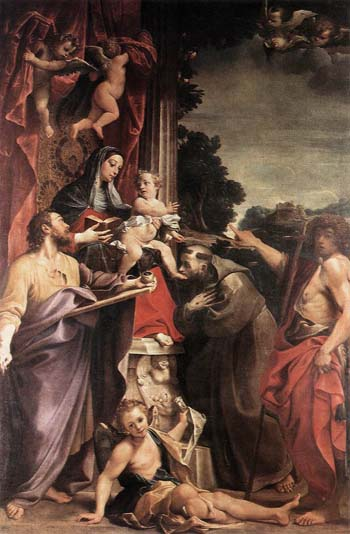 La Virgen entronizada con San Mateo de Anibale Carracci.