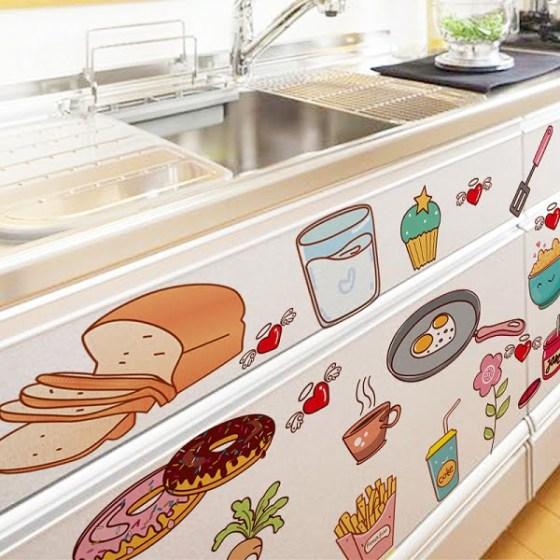 vinilos en muebles de cocina
