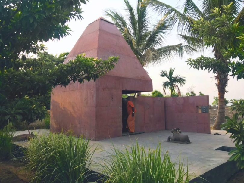 contemporary temple design, new mandir design, simple temple design for home, contemporary hindu temple design, Tejorling radiance temple, Temple in pune, Modern temple in maharashtra, Temple architecture, Karan Darda Architects, KRDA, Modern Temple design,