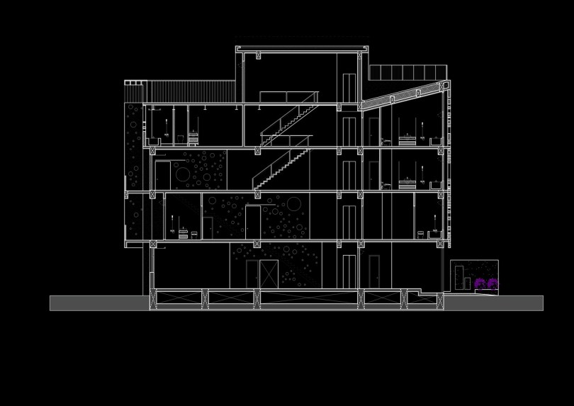 Modern linear house design known as Onyx lit house by Emerge Architects 23