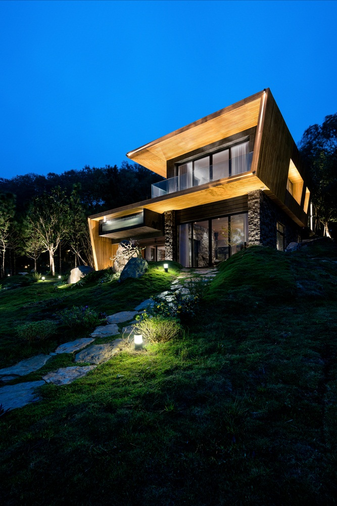 2 storey wood house design, modern wooden house interior design,