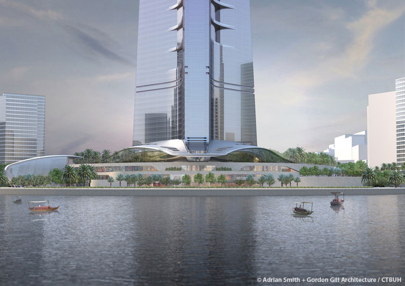 sky mile tower height, azerbaijan tower height, dubai creek tower opened,