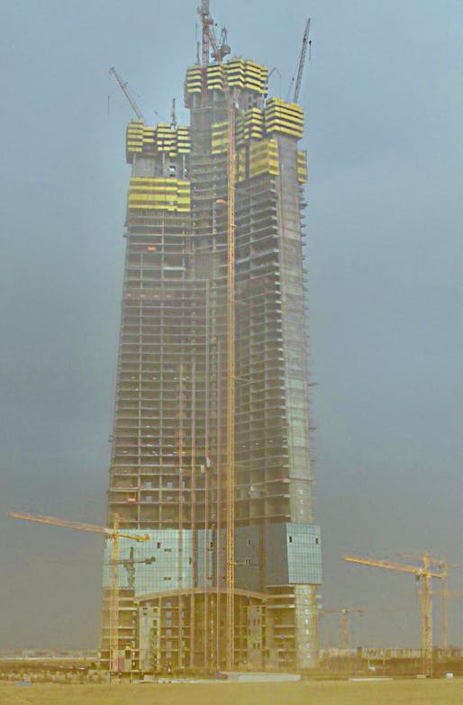 jeddah tower progress 2018, burj khalifa, shanghai tower,