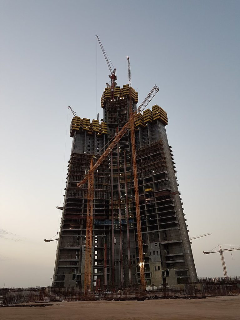 jeddah tower progress, jeddah tower construction, jeddah tower vs burj khalifa,