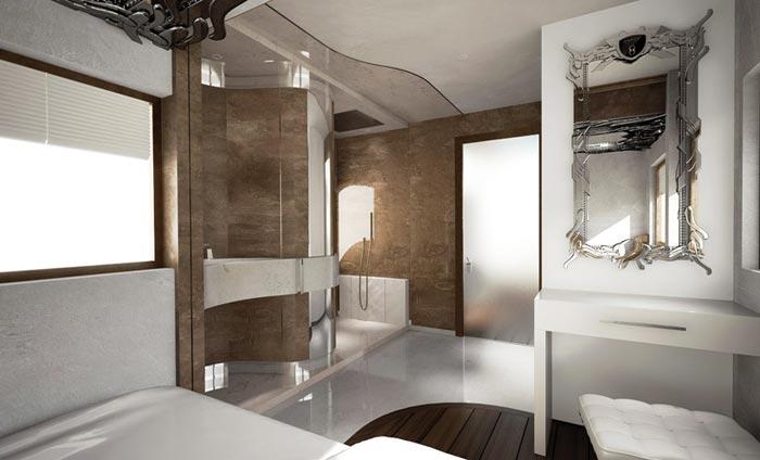 Salle de bain du Camping Car de luxe Palazzo  Arkko