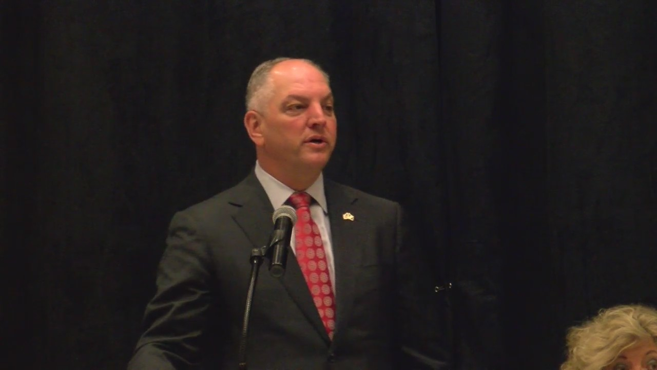 Governor John Bel Edwards speaks at Louisiana Retired Teacher Association meeting