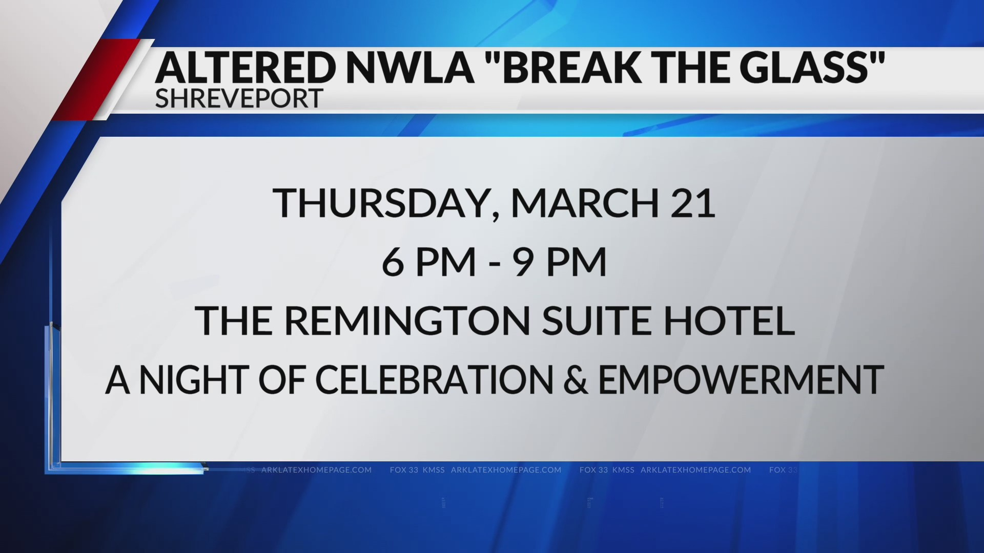 Break the Glass 2019 Altered NWLA Fox