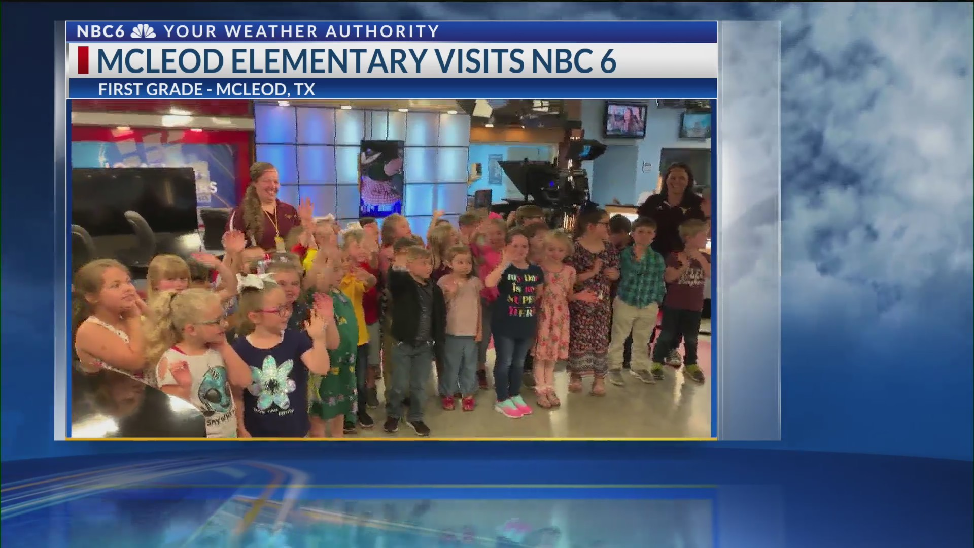 McLeod Elementary visits NBC 6