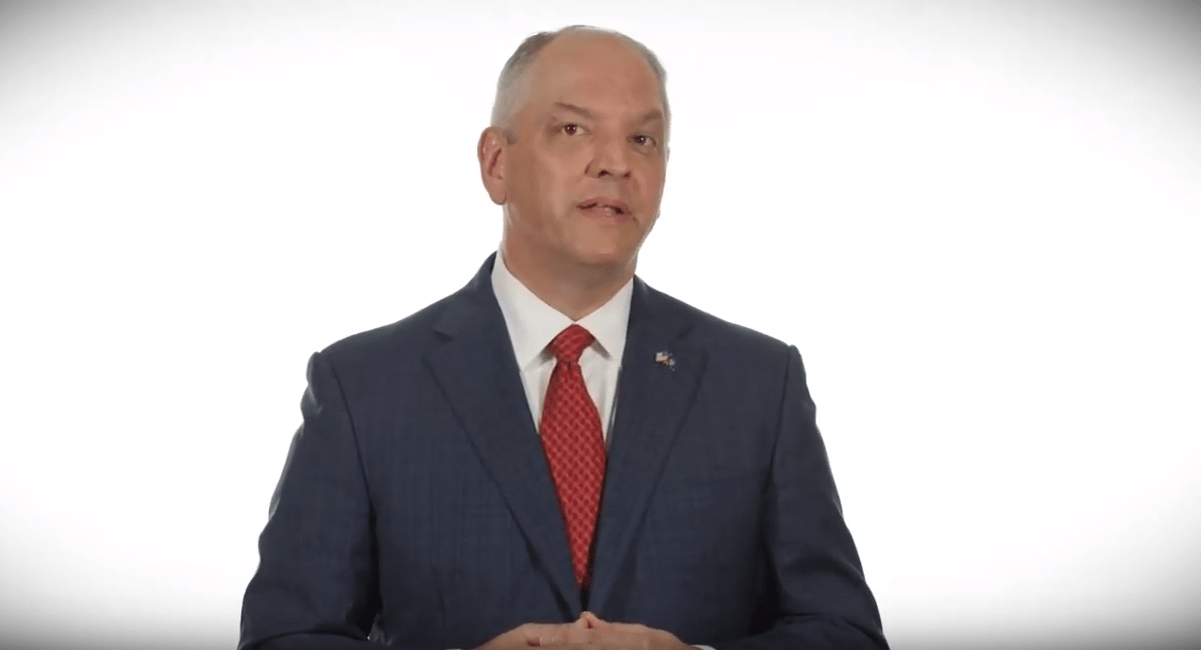 Trump's visit to Louisiana sparks new TV ad from governor_1557850057682.PNG.jpg