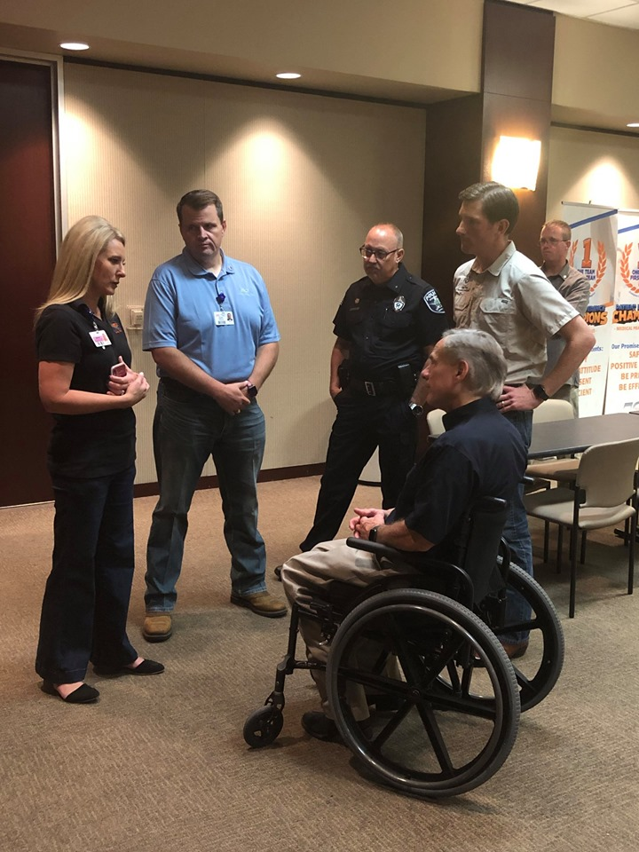 Gov  Abbott visits Odessa, Texas, Medical Center Hospital