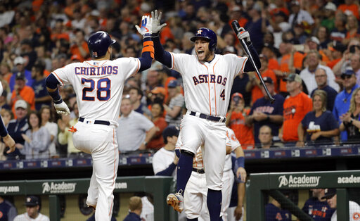 low priced eca77 7e3b5 Astros hit MLB-record 6 HRs in 2 innings, beat A's 15-0 ...