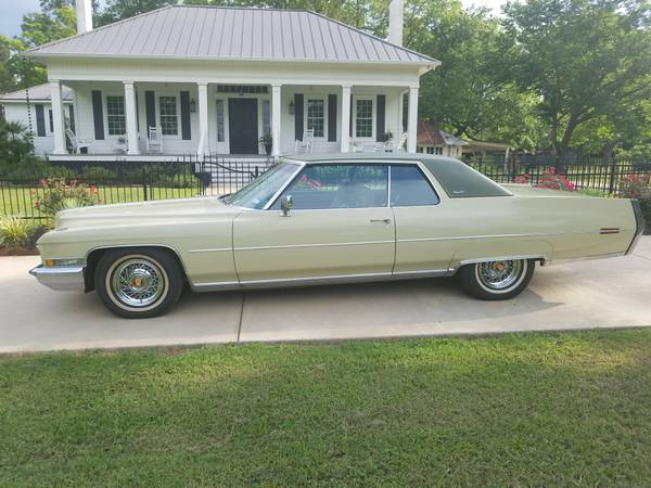 1972 cadillac coupe devillelow miles immaculate
