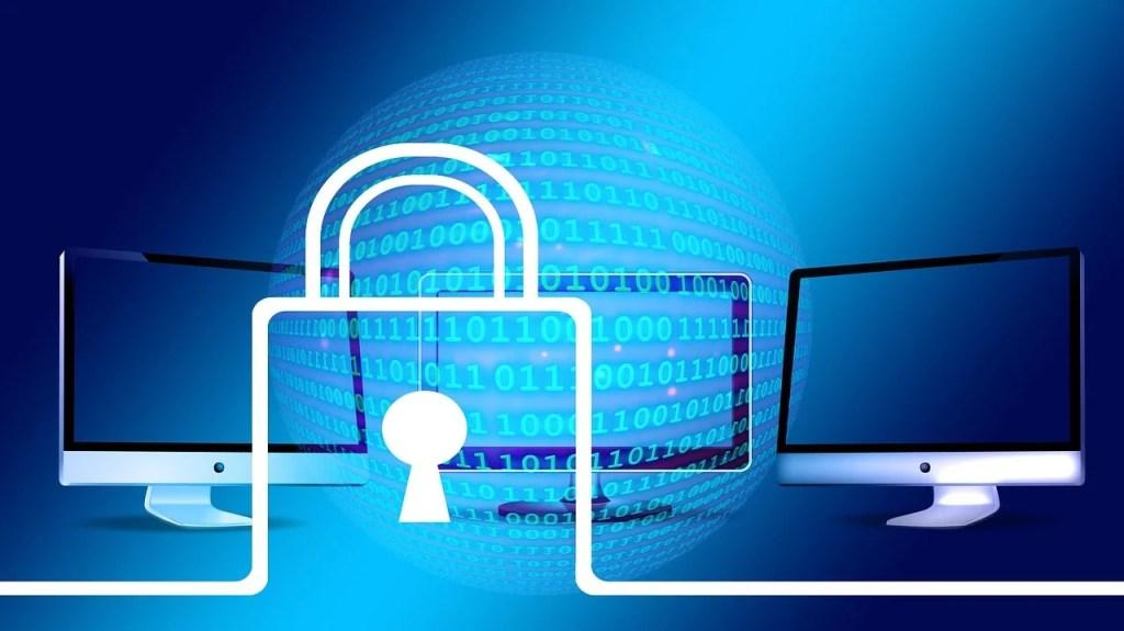 Certyfikat SSL - komputer, kłódka