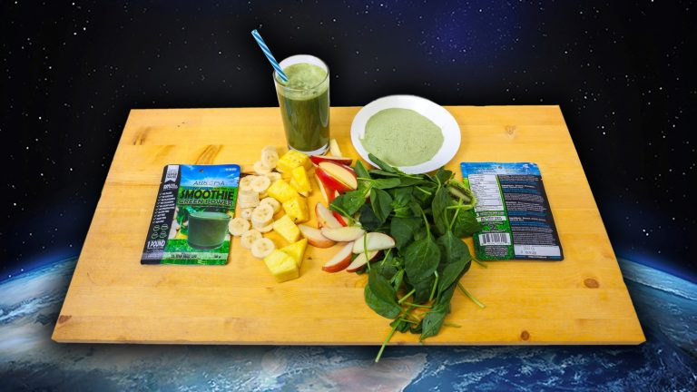 Green Tray Space Background