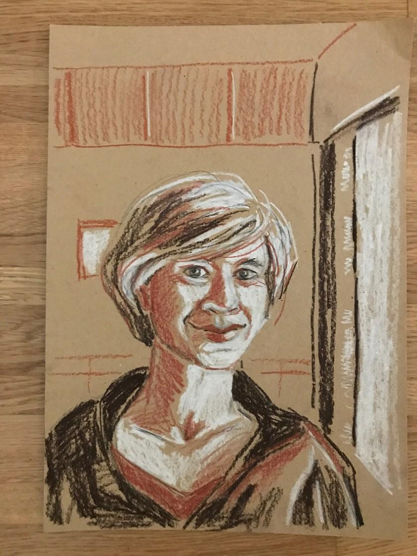 Susanne Crewell(c)Zeichnung Kerstin Heymach