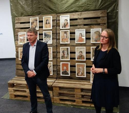Manfred Wendisch eröffnet die Ausstellung