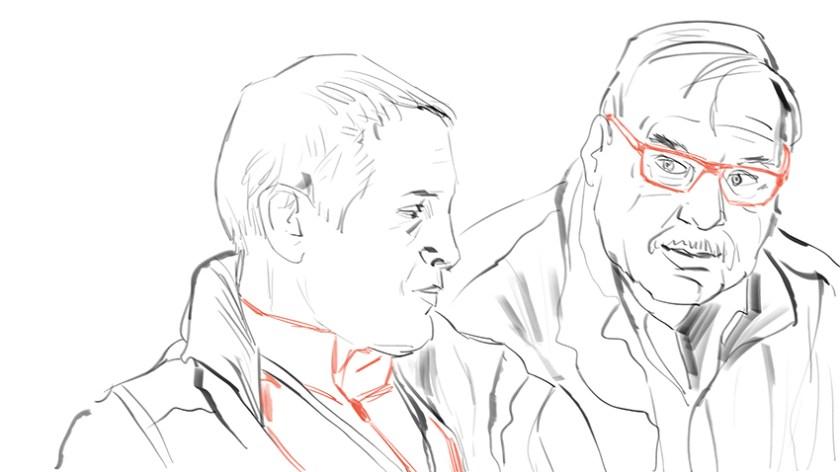Martin (Ingenieur) und Bill (Pilot)