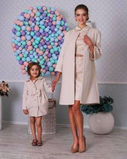 Комплект еднакви палта за майка и дъщеря Латифа