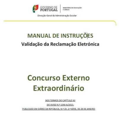 Manual de Instrucoes Validacao da Reclamacao Eletronica