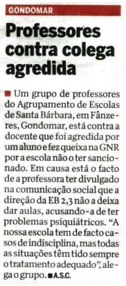 CM Gondomar professores contra