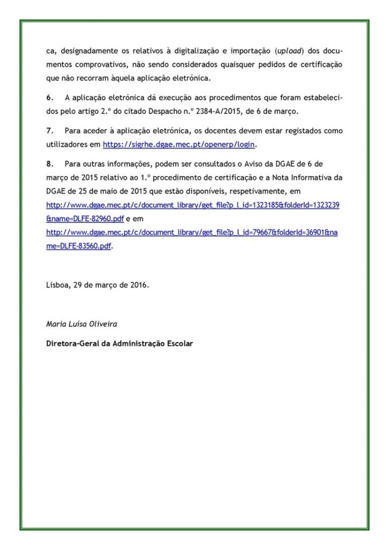 Aviso de Abertura do 2.º procedimento de certificação da qualificação profissional para a docência no grupo de recrutamento 120_Página_2