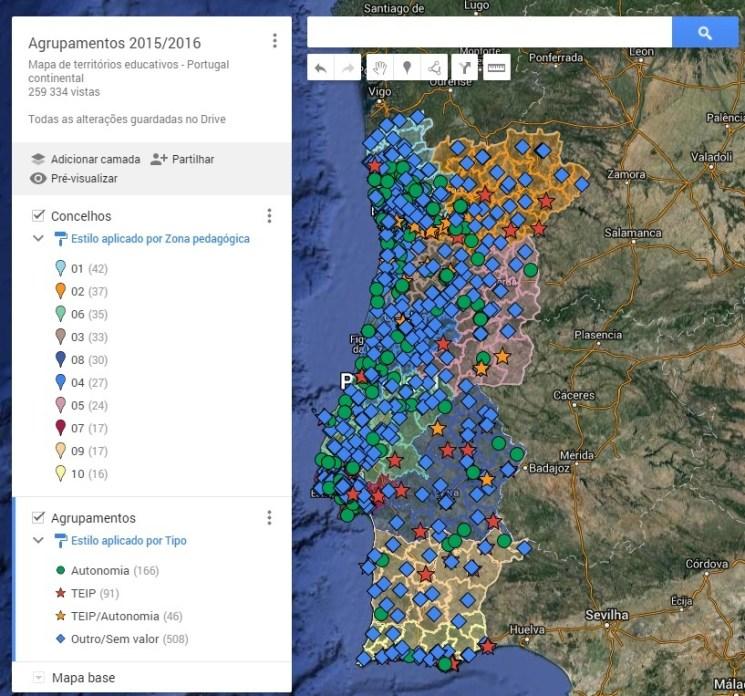 mapa escolas