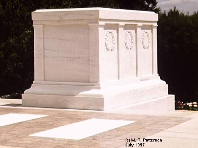 Tomb of the Unknowns - PHOTO By M. R. Patterson