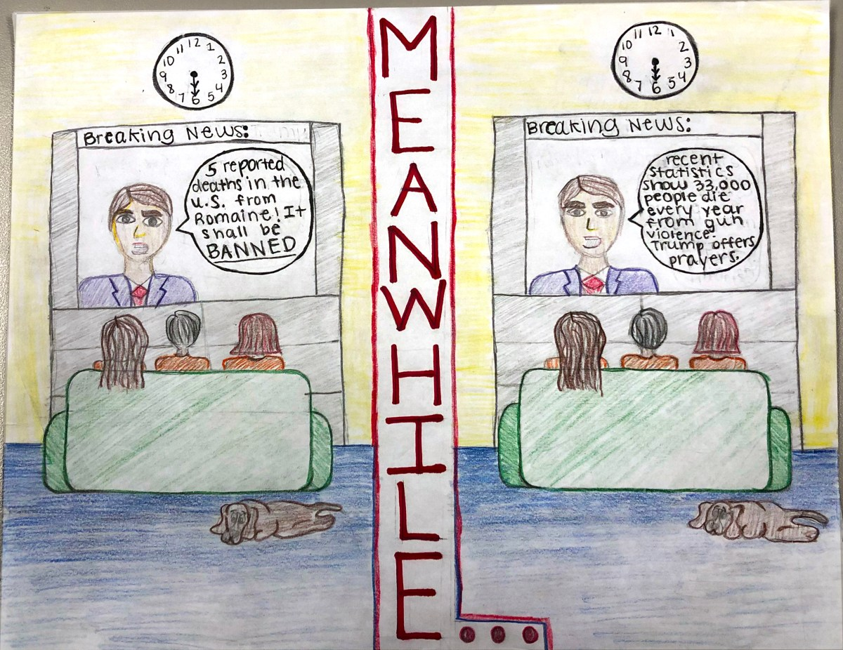 Editorial Cartoon by Louise Mitchell, '21