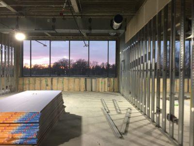 A classroom under construction.
